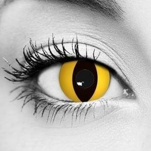 Yellow Cat Contact Lenses