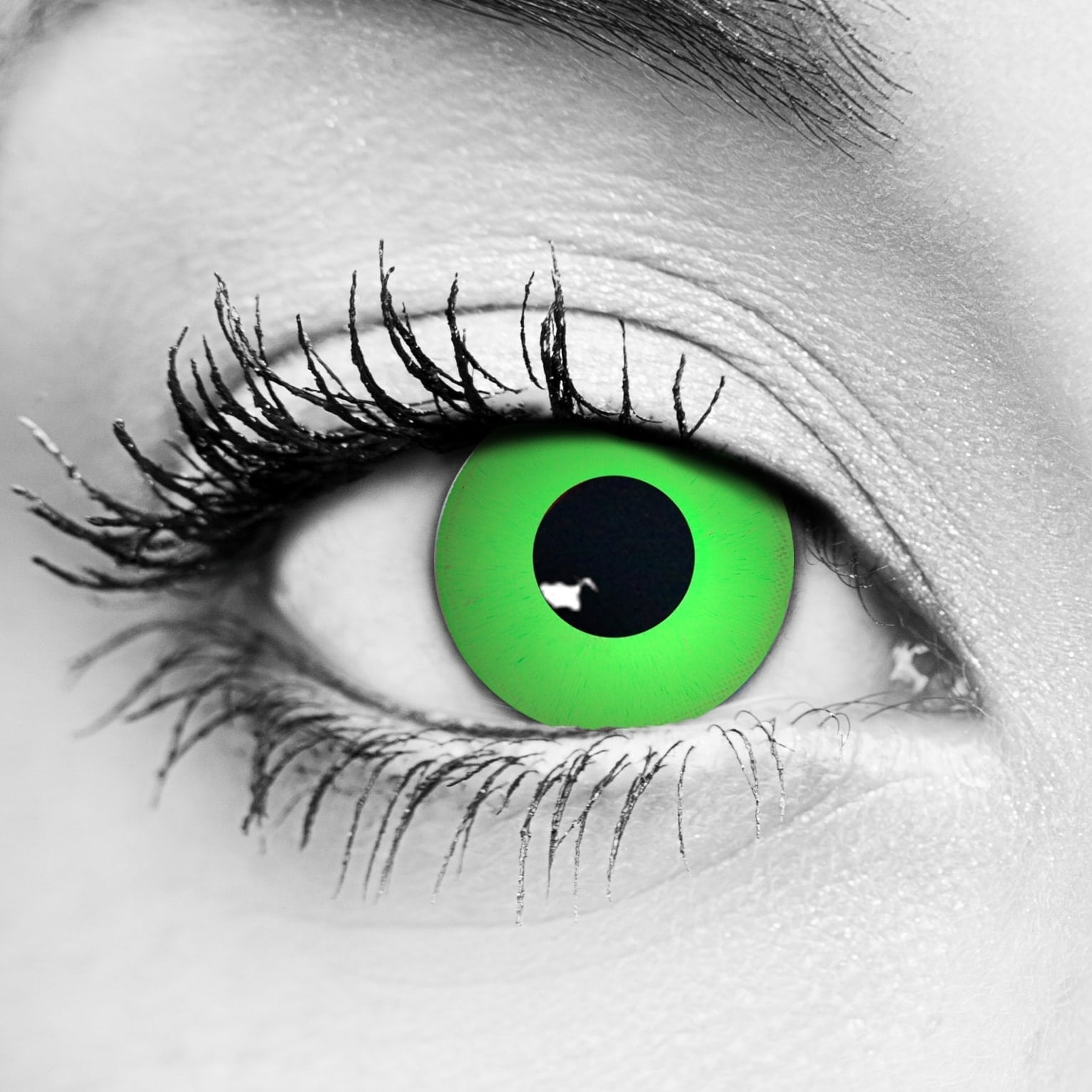 Zombie Green Contact Lenses